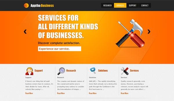 Apptha Business darmowy szablon Joomla 2.5