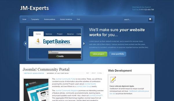 Jm-Experts Free Joomla Template 4