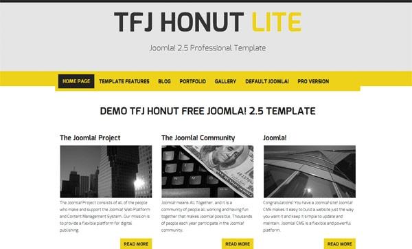 TFJ Honut Lite Version darmowy szablon Joomla 2.5