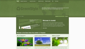 GreenStyle Free Joomla! 1.5 Template - darmowy szablon Joomla