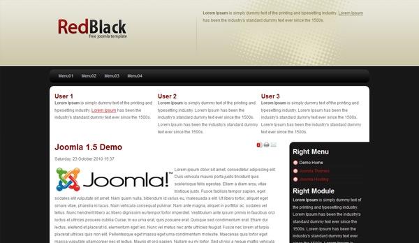 Red Black - darmowa templatka dla Joomla 1.5