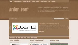 Anton Free Joomla! 1.5 Template - darmowy szablon Joomla