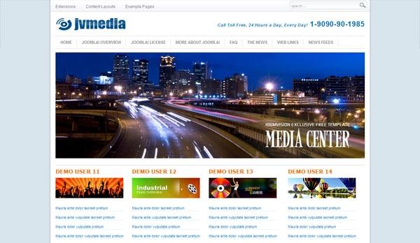 JV Media - darmowa templatka Joomla