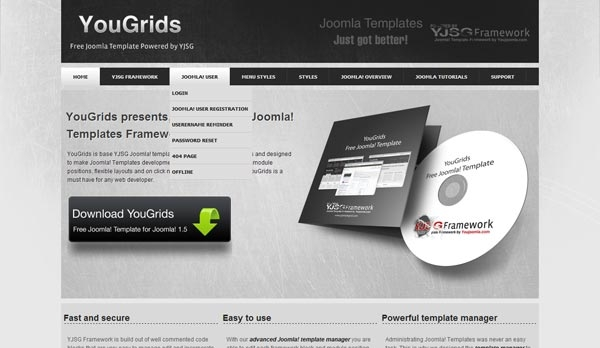 YouGrids - darmowa templatka oparta o framework