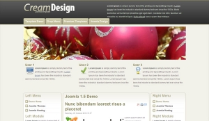 Darmowa templatka dla Joomla - Cream Design
