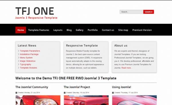 TFJ ONE FREE RWD darmowy i responsywny szablon Joomla! 3