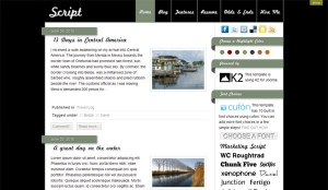 Script - blogowa templatka Joomla