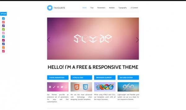 Favourite Joomla 2.5 Free RWD Template