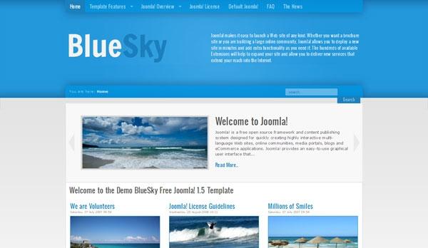 BlueSky Free Joomla! 1.5 Template - darmowy szablon Joomla