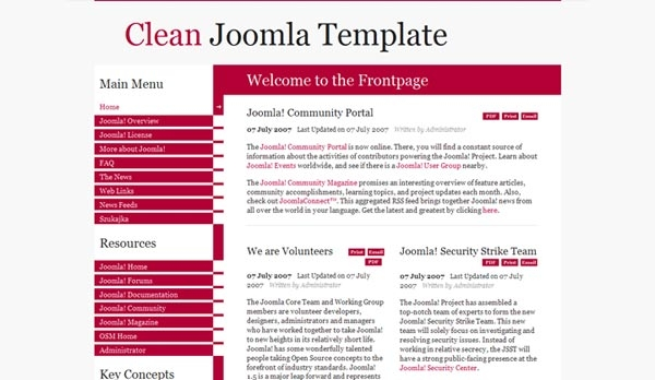 Clean Free Template - darmowy szablon Joomla