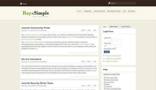 RayaSimple - darmowa templatka dla Joomla 1.5