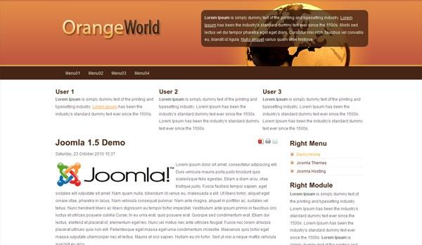 Darmowa templatka Orange World